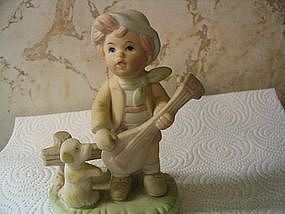 Boy with Lute Figurine