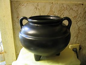 Black Pottery Cauldron