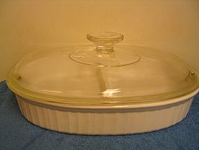 Corning French White Casserole SOLD