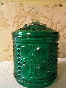 Federal Windsor Green Sugar Dish