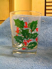 Holly Berry Glass