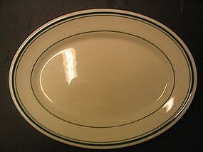 Sterling Green Band Platter
