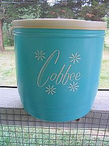Vintage Turquoise Coffee Canister