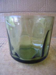 Green Thumbprint Glass