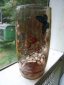 Amber Butterfly Glass
