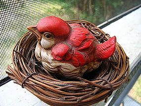Red Bird and Nest
