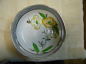 Lusterware Pansy Bowl