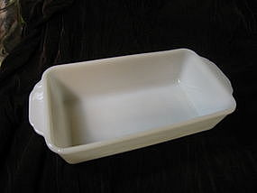 Fire King White Loaf Pan