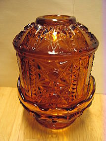 Indiana Glass Amber Fairy Light SOLD