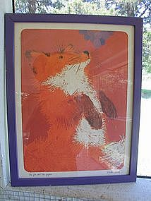 Fox and the Grapes Print by Linda Powell
