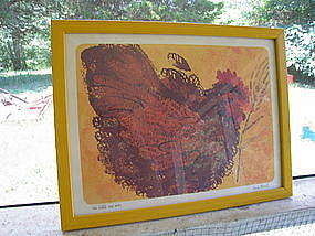 The Little Red Hen Print by Linda Powell