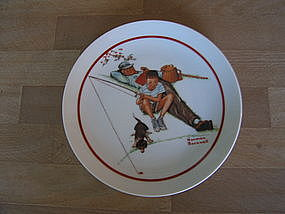 Norman Rockwell Waiting for Dinner Plate