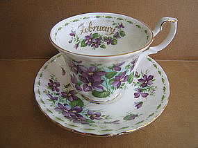 Royal Albert February Violets Cup