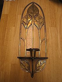 Brass Calla Lily Sconce