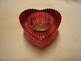 Indiana Cranberry Glass Candle Holder