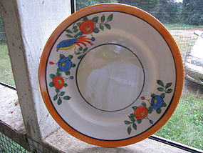 Vintage Flower and Bird Plate