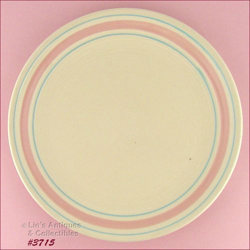 McCOY POTTERY – PINK AND BLUE CHOP PLATE /PLATTER