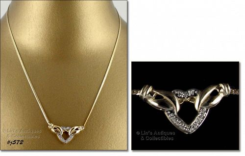 10K NECKLACE WITH DIAMOND ACCENTS