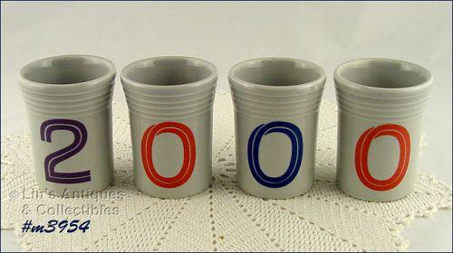 "FIESTA – COMMEMORATIVE ""2000"" JUICE GLASSES"