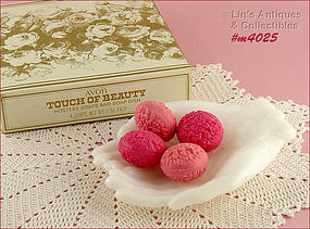 AVON – TOUCH OF BEAUTY SOAPS AND DISH (MIB)