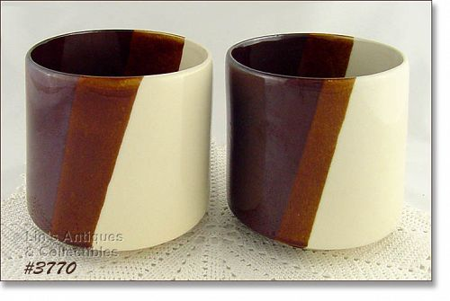 McCOY POTTERY – PAIR OF MATCHING JARDINIERES