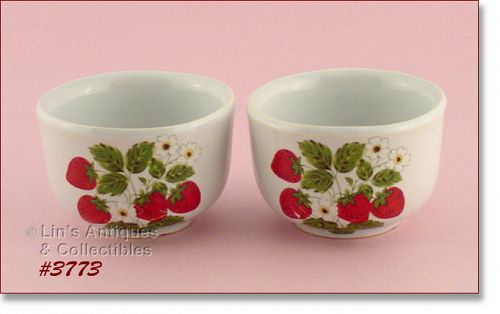 McCOY POTTERY – STRAWBERRY COUNTRY CUSTARDS (2)