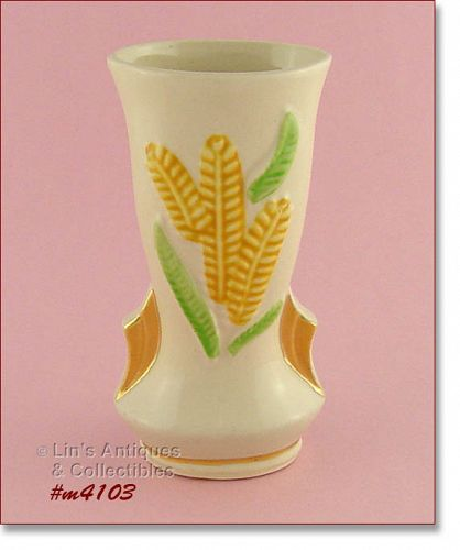 SHAWNEE POTTERY – VASE WITH GOLD TRIM