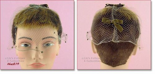 TAUPE / LIGHT TAN COLOR VEIL HEAD COVERING