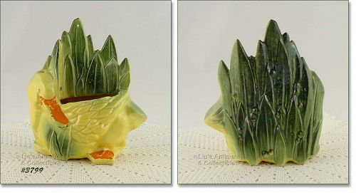 McCOY POTTERY – DUCK AND LEAVES PLANTER