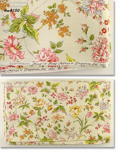 VINTAGE MATERIAL BY HOUSE 'N HOME FABRIC