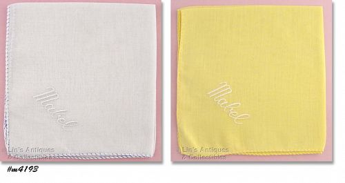 "TWO HANDKERCHIEFS FOR ""MABEL"""