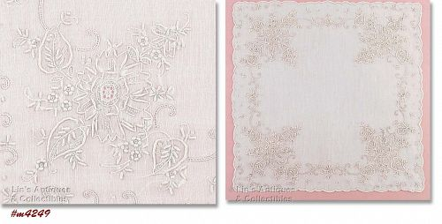 MADEIRA WHITE WEDDING HANDKERCHIEF