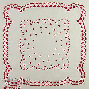 LOTS OF HEARTS VALENTINE HANDKERCHIEF