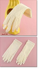 FANCY WHITE GLOVES WITH LOTS OF BEADWORK
