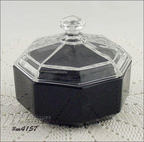 GLASS VANITY / POWDER JAR MADE IN FRANCE