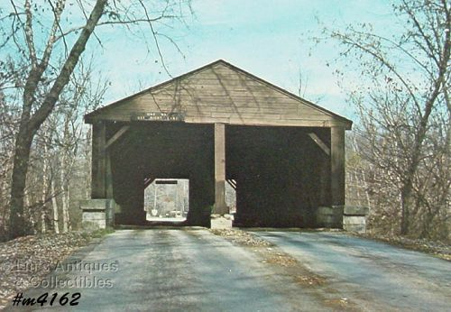 COVERED BRIDGE POSTCARD – COVERED BRIDGE, BROWN COUNTY, INDIANA