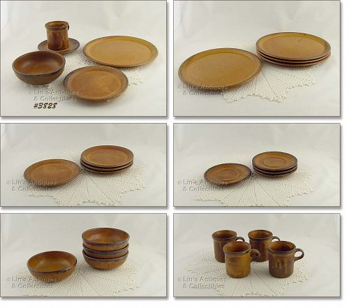 McCOY POTTERY – CANYON DINNERWARE FOR 4 (20 PCS.)