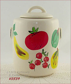 "McCOY POTTERY – ""VEGETABLES"" COOKIE JAR"