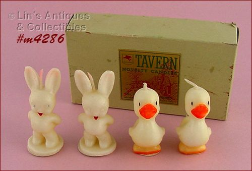 4 EASTER CANDLES BY TAVERN CANDLE COMPANY