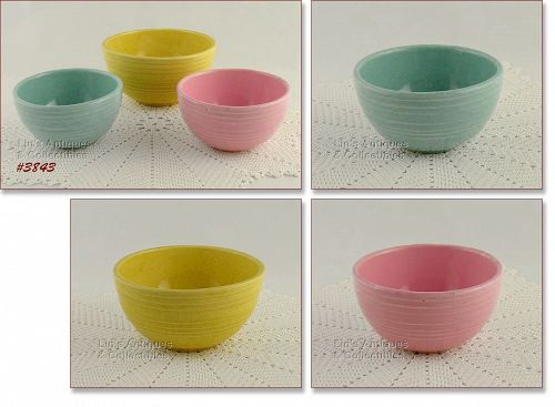 """McCOY POTTERY – """"RINGS"""" BOWLS (3 AVAILABLE)"""