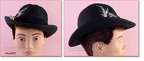 SYLVIA BLACK RAFFIA HAT