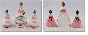 ENESCO – PRAYER LADY NAPKIN HOLDER AND SHAKER SET