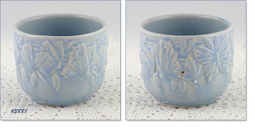 """McCOY POTTERY – BUTTERFLY LINE SMALL JARDINIERE (2 ¾"""")"""