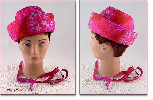 VINTAGE PINK HAT BY EMME, INC. NEW YORK