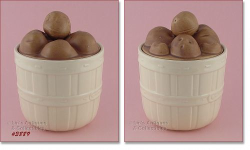 McCOY POTTERY – BASKET OF POTATOES COOKIE JAR