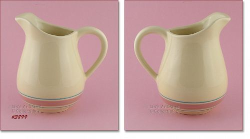 McCOY POTTERY – RARE PINK AND BLUE WATER PITCHER