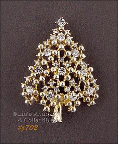 EISENBERG ICE – RHINESTONE CHRISTMAS TREE PIN