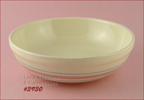 McCOY POTTERY – PINK AND BLUE SERVING BOWL