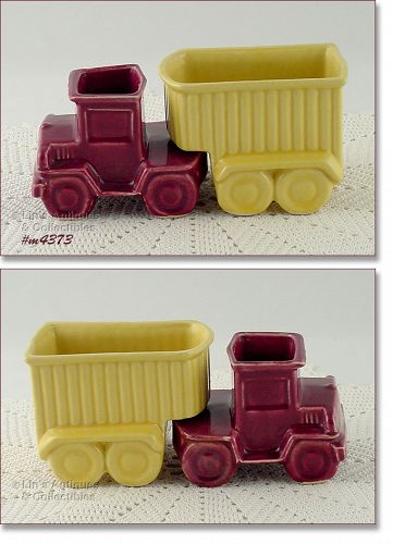 SHAWNEE POTTERY – TRUCK AND TRAILER PLANTERS