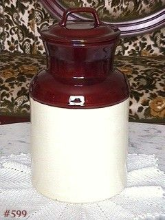 "McCOY POTTERY -- MILK CAN COOKIE JAR (12 1/4"")"